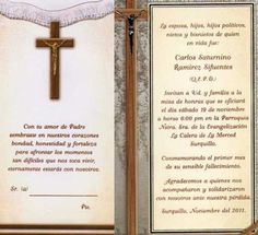 Tarjetas de invitación de misa para difuntos - Imagui