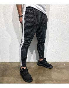 Black Island Çizgili Likralı Erkek Pantolon BD1912SY Sneaker, Sweatpants, Fashion, Moda, Slippers, Fashion Styles, Fashion Illustrations, Shoes Sneakers, Workout Shoes