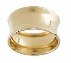 EternaGold Polished Concave Band Ring, 14K Gold