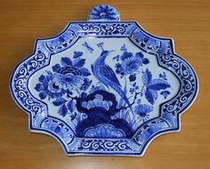 Superb Vintage De Porceleyne Fles Delft Blue & White Pottery Wall Plaque ~ Approximately 29cm x 25.5cm. Marked BY for 1954. Item located in the UK. Sold for $60.75 in 2015.