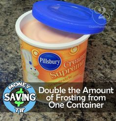 Don't buy 2 containers of frosting... double the amount with this easy trick!