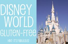 Gluten-Free at Walt Disney World - it's wonderful.  P.S. our favorite g-free goodies are at Raglan Road at Downtown Disney... they have gluten-free onion rings and fish & chips!