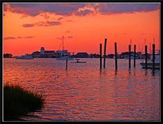 Ocracoke Island  Silver Lake Sunset - Ocracoke Island, North Carolina