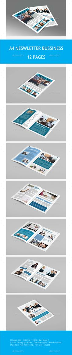 Newsletter Template - 3 Newsletter templates, Print templates - newsletter format
