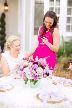 Radiant Orchid Bridesmaids Luncheon - featured in OCCASIONS magazine Bridesmaid Luncheon, Bridesmaids, Bridal Shower Activities, Ladies Luncheon, Party Fashion, Event Planning, Flower Girl Dresses, Celebrities, Wedding Dresses