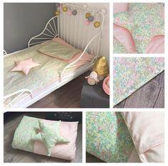 Housse de couette bébé 120 x 80cm, rose et Liberty Poppy and Daisy Pastel