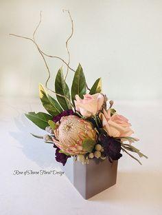 Rose of Sharon Floral Designs, Protea and Rose Arrangement