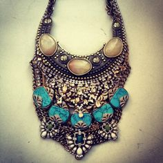 Boho Chic Accessories Statement Necklace, - Wills Gypsy Chic, Hippie Gypsy, Boho Chic, Jewelry Box, Women Jewelry, Nice Jewelry, Jewellery, Vintage Gypsy, Ibiza Fashion
