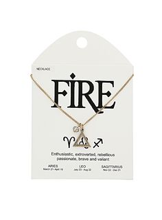 Fire sign necklace. For Aires, Leo and Sagittarius.  Have Earth signs as well...