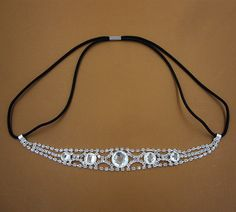 Fashion Bridal Crystal Rhinestone Chain Wedding Headband Hair Band FD-15 #Handmade #ElasticStretch
