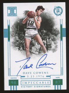 d5799d0d703 2017-18 Panini Impeccable Victory Platinum Dave Cowens Celtics HOF AUTO 1/1