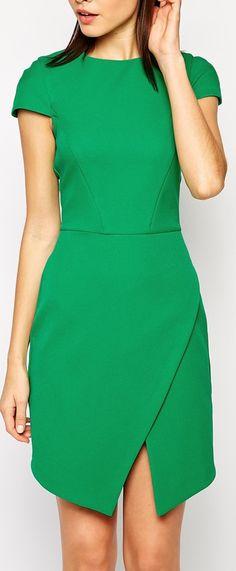 green wrap skirt dress