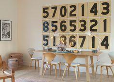 Number decor idea