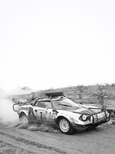 "legendsofracing: ""The Lancia Stratos HF of Sandro Munari and Piero Sodano, pictured here during the 1977 Safari Rally. """
