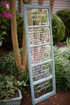 Dry erase window frame--messages, scriptures, quotes--Slacker Mom