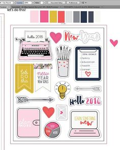 shop.evalicious: been working on some fun things for Jan @theplannersociety kit! These will be puffys. There's another set of die cuts in this kit. Have you signed up?? Oh and I'm prepping the Sticker Society stickers for cutting and they are looking so pretty!! I'm gonna be in paper heaven this month! So lucky and thankful I get to do what I get to do!!
