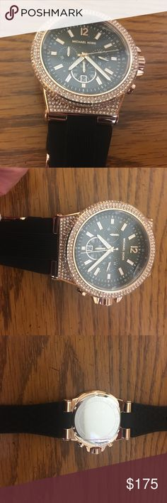 Stunning Brand new Michael Kors watch. Michael Kors watch with beautiful stones  with rubber band. Michael Kors Accessories Watches