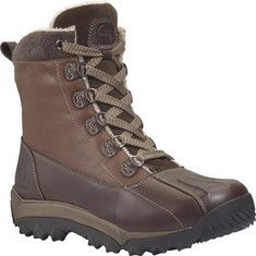 Looking for boots for Quebec trip: Men's weekend casual footwear from Timberland.Winter ready lace up waterproof boots to beat the cold weather outside, from the Woodbury collection.Waterproof - Premium waterproof leather for comfort, durability and abrasion resistance.This product contains no PVC.