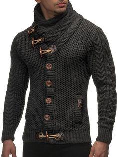 LEIF NELSON cardigan Chaqueta hombres tejer su_ter LN4195 Chaqueta: Amazon.es: Ropa y accesorios