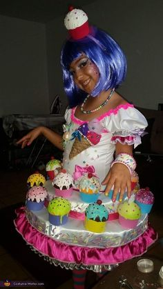 Angie: My daughter wanted to have a candy costume so I started looking only and this is what I created for her 2 months making it but she was the star...