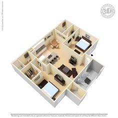 Mariposa Apartments, Vista - 2 Bed, 2 Bath (Dual Master!) $1545