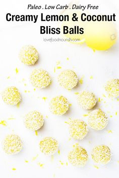 These creamy lemon coconut bliss balls make a tasty healthy snack – they are low carb, high protein, gluten, dairy and refined sugar free. With a delicious blend of zesty lemon and creamy coconut these paleo energy balls are an easy to make no bake snack! Paleo Vegan, Healthy Vegan Dessert, Yummy Healthy Snacks, Protein Snacks, High Protein, Vegan Snacks, Eating Healthy, Healthy Living, Almond Recipes