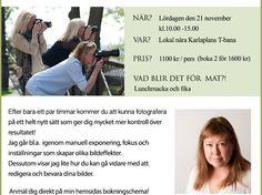 Fotokurs – lämna autoläget på din kamera! 2015-11-21 10:00-15:00 – Stockholm Fotokurs för dig som vill komma förbi autoläget på din kamera och fota på riktigt. Kursledare: Fotograf Bodil Bergman Hughes från Bergman Hughes Images