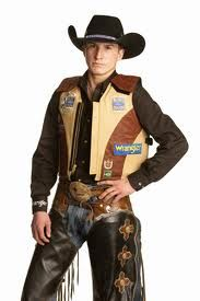 Ryan Dirteater in the vest made for him by Ride Right