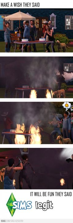 And this is why you just don't let some Sims near anything with fire... Ovens, birthday cakes, fireplaces...