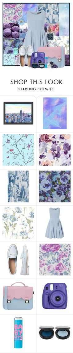 """""""baby blue"""" by arwitaa ❤ liked on Polyvore featuring Americanflat, Anthropologie, Designers Guild, House & Home, Dorothy Perkins, Gap, La Cartella, Fujifilm and FACE Stockholm"""