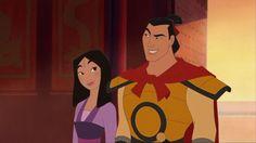 Mulan and Shang! Disney Pixar, Walt Disney, Disney E Dreamworks, Disney Couples, Disney Animation, Disney Magic, Disney Movies, Disney Characters, Disney Princesses