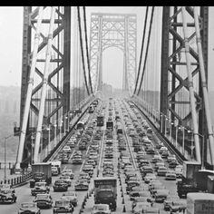Old Pictures, Old Photos, Vintage Photos, Vintage Stuff, Washington Heights, Vintage New York, George Washington Bridge, Retro, New York City