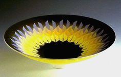 Ceramics by Peter Lane at Studiopottery.co.uk - Splintered light porcelain bowl, 35cms diameter.