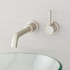 Simplistic, modern beauty perfectly describes the Edenton Wall-Mount Bathroom Faucet. Ideal for a contemporary space, this fixture boasts a curved, cylindrical spout that complements its easy-to-use lever handle. Made of brass and covered in a rust-resist Pop Up Sink Drain, Modern Bathroom Faucets, Brushed Nickel Faucet, Wall Mount Faucet, Widespread Bathroom Faucet, Plumbing Fixtures, Hardware, Brass, Handle