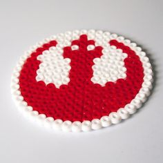 Star Wars Rebel Alliance Logo Coaster hama beads by RetroidStudio