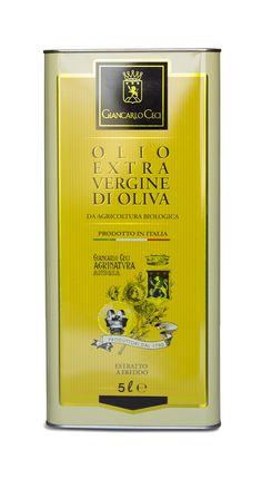 Olio extra vergine d'oliva da agricoltura biologica certificata Lattina 5 litri