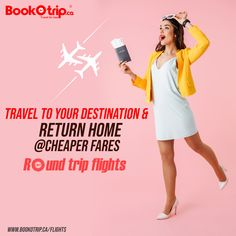 Book round trip flights at lowest fares as you need with BookOtrip. Cheap One Way Flights, Cheap Flight Deals, Cheap Fares, Round Trip, Book, Travel, Viajes, Books, Trips