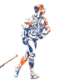Pete Alonso NEW YORK METS PIXEL ART 2 Art Print by Joe Hamilton. All prints are professionally printed, packaged, and shipped within 3 - 4 business days. New York Mets Baseball, Baseball Art, Baseball Stuff, Baseball Wallpaper, Team Wallpaper, Mlb Players, Baseball Players, Our Lady Of Pompeii, Mets Team