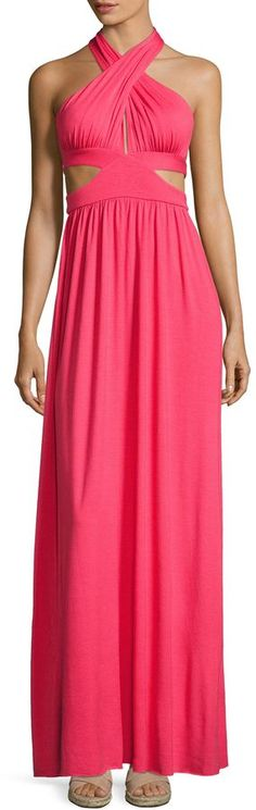 Rachel Pally Women's Naeva Solid Halter Maxi Dress