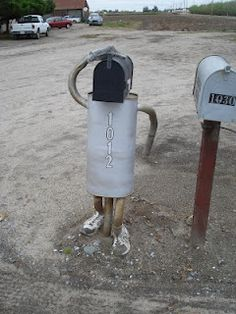 Motorcycle parts mailbox custom cool motorcycles for Funny mailboxes for sale