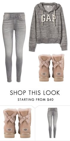 """Perfect Cute+Casual"" by awesome-banana ❤ liked on Polyvore featuring UGG and Gap"
