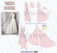 What About Amazing Easy Sewing Projects ? Barbie Clothes Patterns, Clothing Patterns, Sewing Patterns, Wedding Dress Patterns, Dress Making Patterns, Pattern Cutting, Pattern Making, Modelista, Gown Pattern