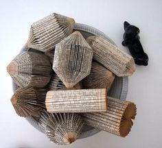 Folded books.