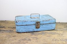 Vintage Turquoise Tackle Box by reAwesome on Etsy, $24.00