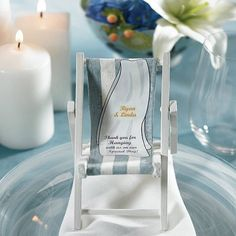 Folding Beach Chair Place Card Holders by Beau-coup