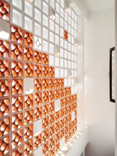 Image 5 of 20 from gallery of Filtered Wall House / Duc Vien LE. Courtesy of Duc Vien LE Foyer Design, Brick Design, Facade Design, Exterior Design, Interior And Exterior, Brick Architecture, Architecture Details, Interior Architecture, Narrow House Designs