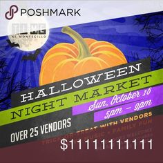 JOIN ME! El Paso Farmer's Market Calling all EL PASO poshers!!! Come join us at TI:ME at Montecillo Farmer's Market! Sunday 10/16 from 5PM-9PM. I'll be there selling my jewelry with others fabulous vendors. 🎃 HALLOWEEN THEMED 🍂 trick or treating for the kids 🎃 pet friendly 🎃 5001 N. Mesa St Posh N Sip Other