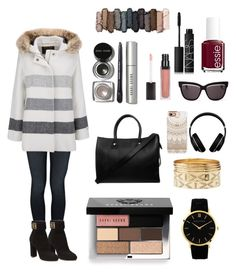 """""""Untitled #20"""" by nuha-m ❤ liked on Polyvore featuring Mother, Salvatore Ferragamo, Woolrich, Bobbi Brown Cosmetics, Essie, Urban Decay, Larsson & Jennings, Paul & Joe, Christian Dior and NARS Cosmetics"""