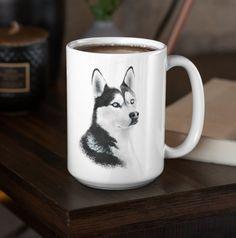 Unique and beautiful Siberian Husky design. Morning Coffee, Husky, Ceramics, Tea, Mugs, Unique, Tableware, Beautiful, Design