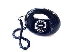 Black Handbag Design Touchtone Telephone with by Rubyapplevintage